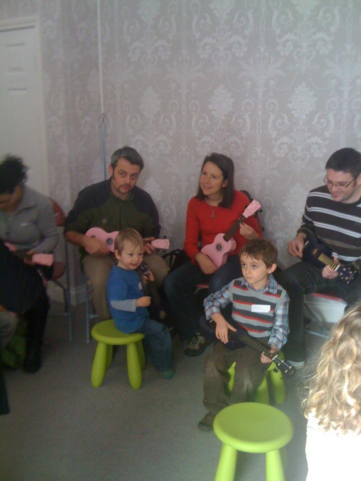 Ukulele Workshops blow off the cobwebs of our empty shop....